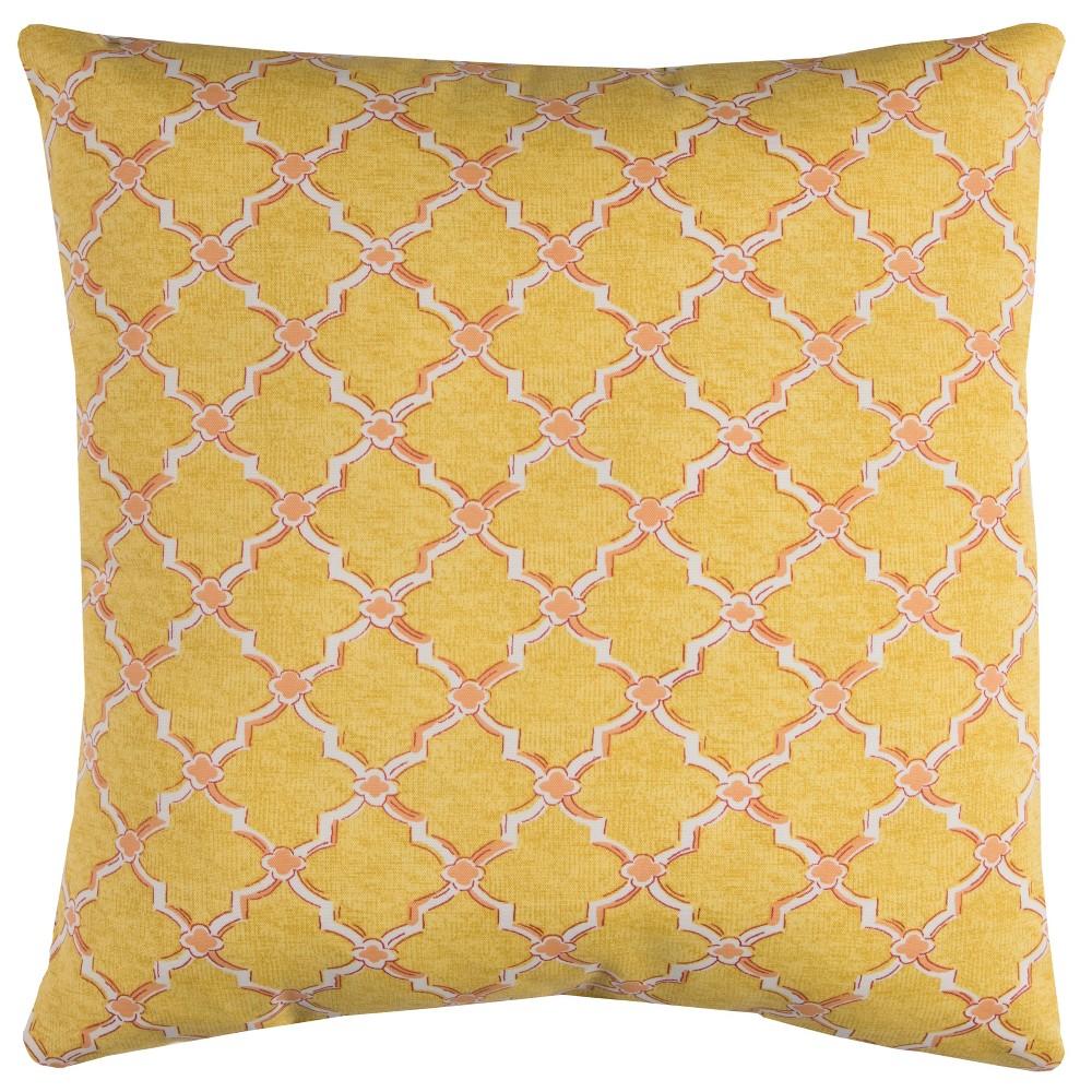 Rizzy Home Eaton Throw Pillow Yellow