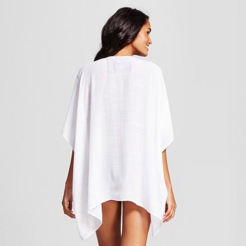 e9b55de9b039 Cover 2 Cover Women's Tie Front Kimono Cover Up Dress - White XL : Target