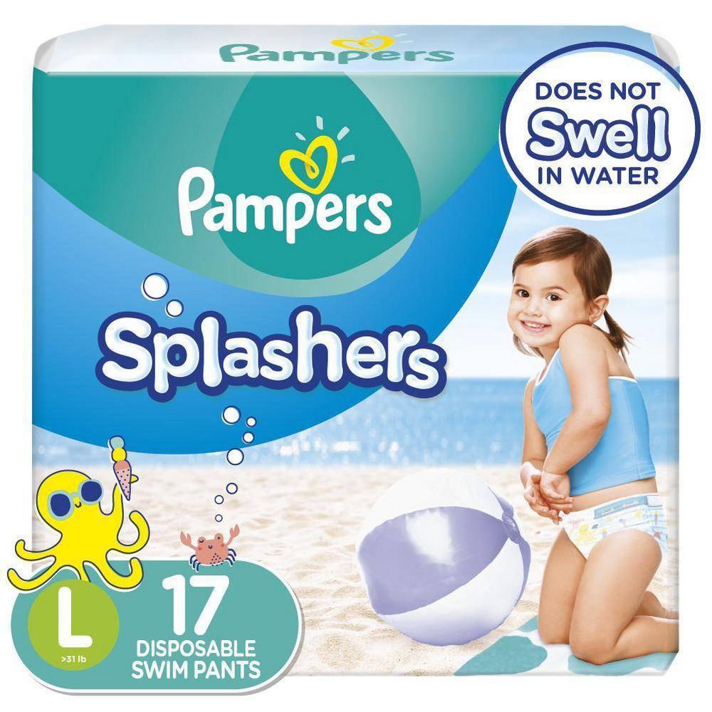 Pampers Splashers Disposable Swim Pants Size L 17ct