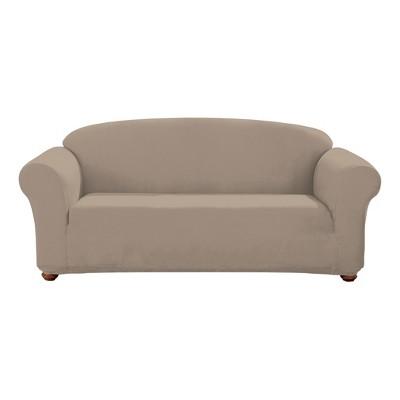 Linen Designer Suede Sofa Slipcover - Sure Fit