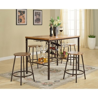 Vintner Pub Set Black Brown Baxton Studio Target