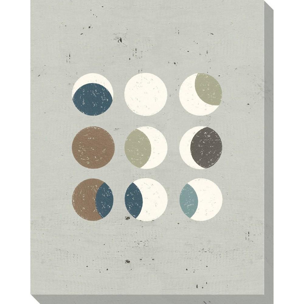 Image of Circle Play Light 4 Unframed Wall Canvas Art - (24X30)