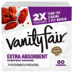 Vanity Fair Extra Absorbent Everyday Casual Napkins - 80ct