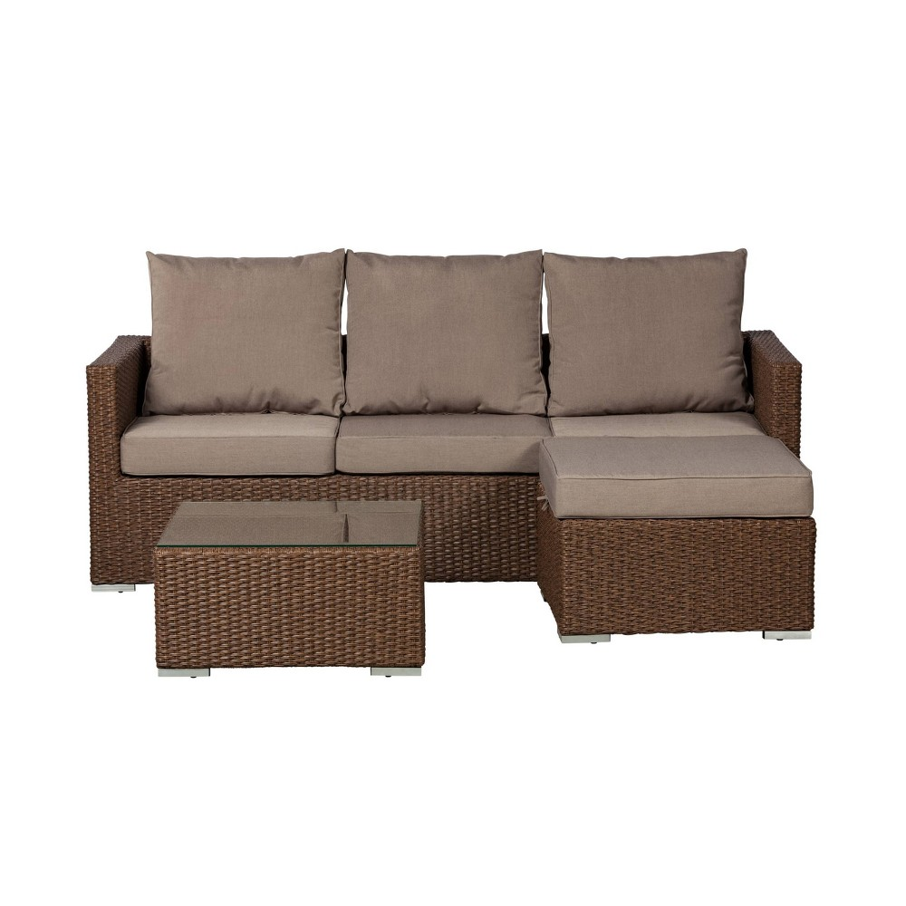Image of Dorsey 3pc Patio Sectional Seating Set - Balkene Home
