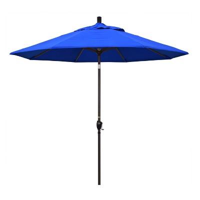 9' Aluminum Push Button Tilt Crank Sunbrella Patio Umbrella - California Umbrella