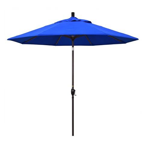 9' Aluminum Push Buton Tilt Crank Sunbrella Patio Umbrella - California Umbrella - image 1 of 4