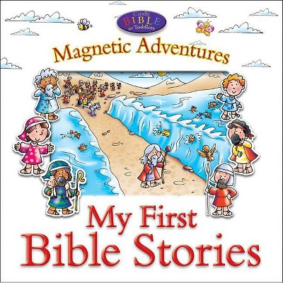 My First Bible Stories--Magnetic Adventures - (Candle Bible for Toddlers)by Juliet David (Board Book)