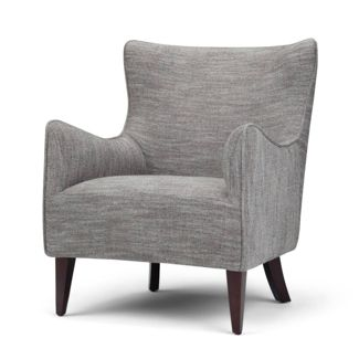 "28"" Tawney Winged Back Accent Chair Gray - Wyndenhall"
