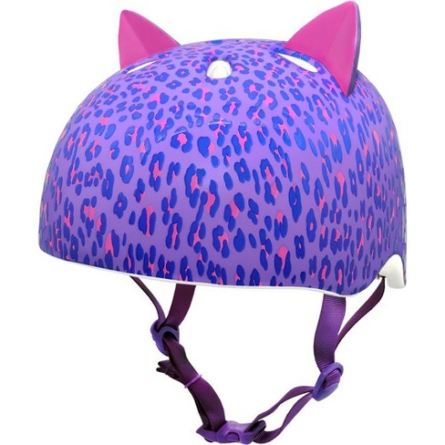 Krash! Youth Leopard Kitty Helmet - Purple - image 1 of 4
