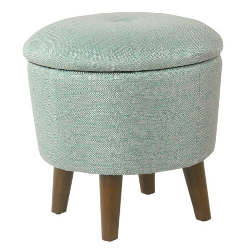 Awesome Modern Round Woven Tufted Storage Ottoman Homepop Machost Co Dining Chair Design Ideas Machostcouk