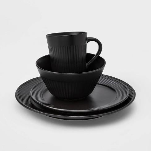 16pc Stoneware Harrison Dinnerware Set Black - Threshold™ - image 1 of 3