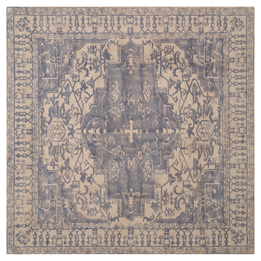 Restoration Vintage Rug - Blue/Grey - (6'x6' Square) - Safavieh, Blue/Gray