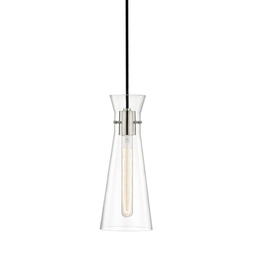 Anya 1-Light Pendant Chandelier Brushed Nickel - Mitzi by Hudson Valley Price