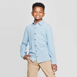 Boys' Long Sleeve Pique Button-Down Shirt - Cat & Jack™