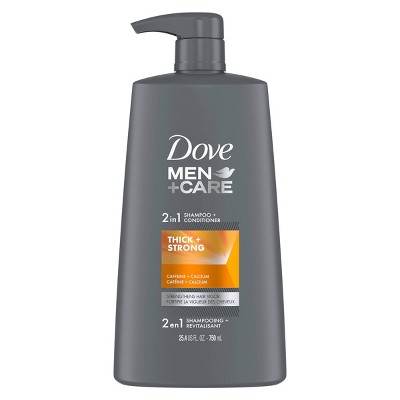 Dove Men + Care 2 in 1 Shampoo + Conditioner Thick + Strong for Fine or Thinning Hair - 25.4 fl oz