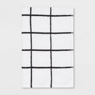 Everyday Grid Hand Towel Black/White - Room Essentials™