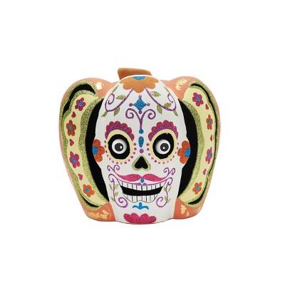 Gallerie II Sugar Skull Pumpkin Lg