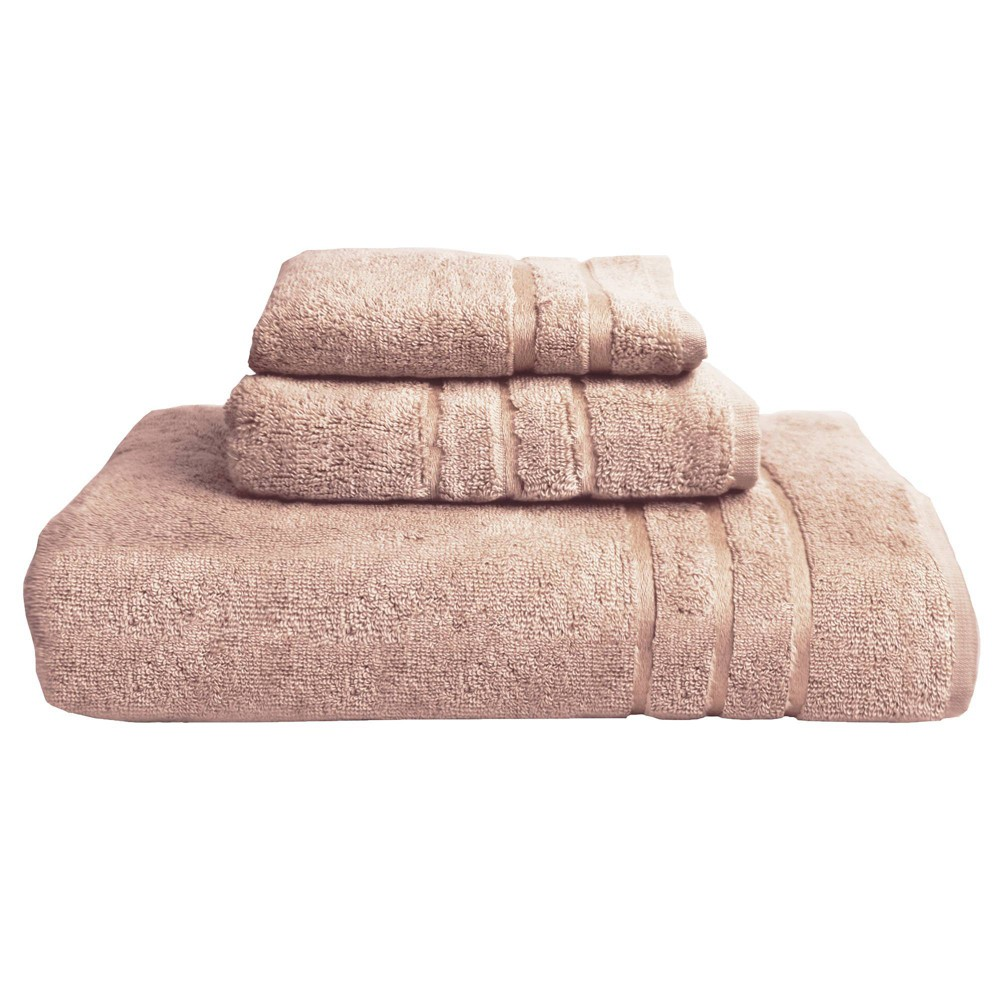 Image of 3pc Rayon from Bamboo Towel Set Blush Pink - Cariloha