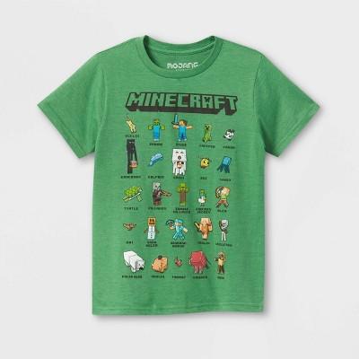 Kids' Minecraft Short Sleeve Graphic T-Shirt - Green
