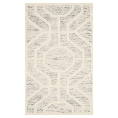 Light Gray/Ivory Geometric Tufted Accent Rug - (2'X3')- Safavieh®