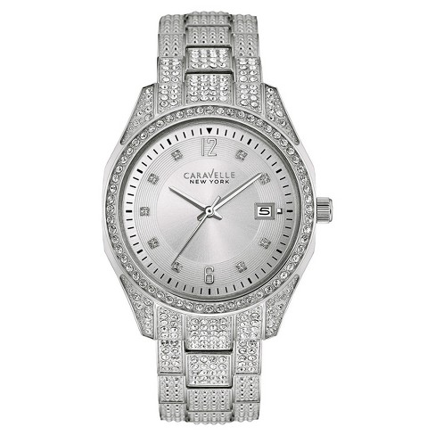 a8f3bff53 Women's Caravelle New York Crystal Accent Stainless Steel Watch 43M112 -  Silver