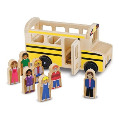 Melissa & Doug School Bus Wooden Play Set With 7 Play Figures
