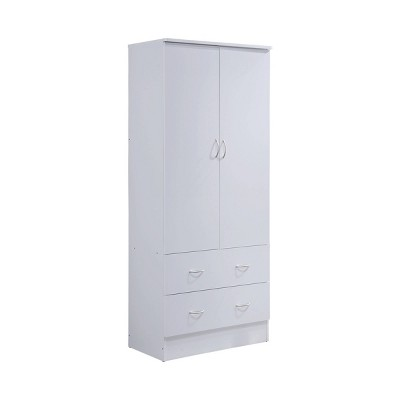 2 Door Armoire with 2 Drawers - Hodedah Import