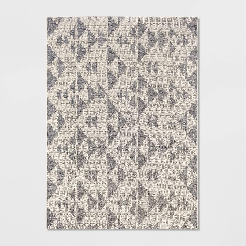 9'X12' Indoor/Outdoor Color Block Woven Area Rug Cream - Threshold, Beige