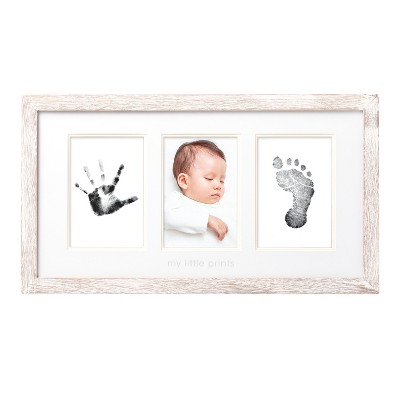 Pearhead Babyprints Photo Frame Kit Distressed White Single Image Frame - White