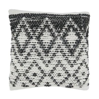 """18""""x18"""" Diamond Design Square Pillow Cover - Saro Lifestyle"""