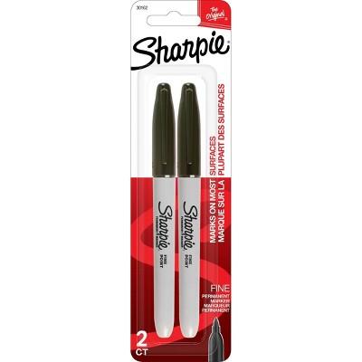 Sharpie Fine Tip Permanent Markers, Black, 2ct
