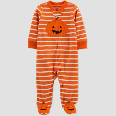 Baby Pumpkin Fleece Footed Pajama - Just One You® made by carter's Orange