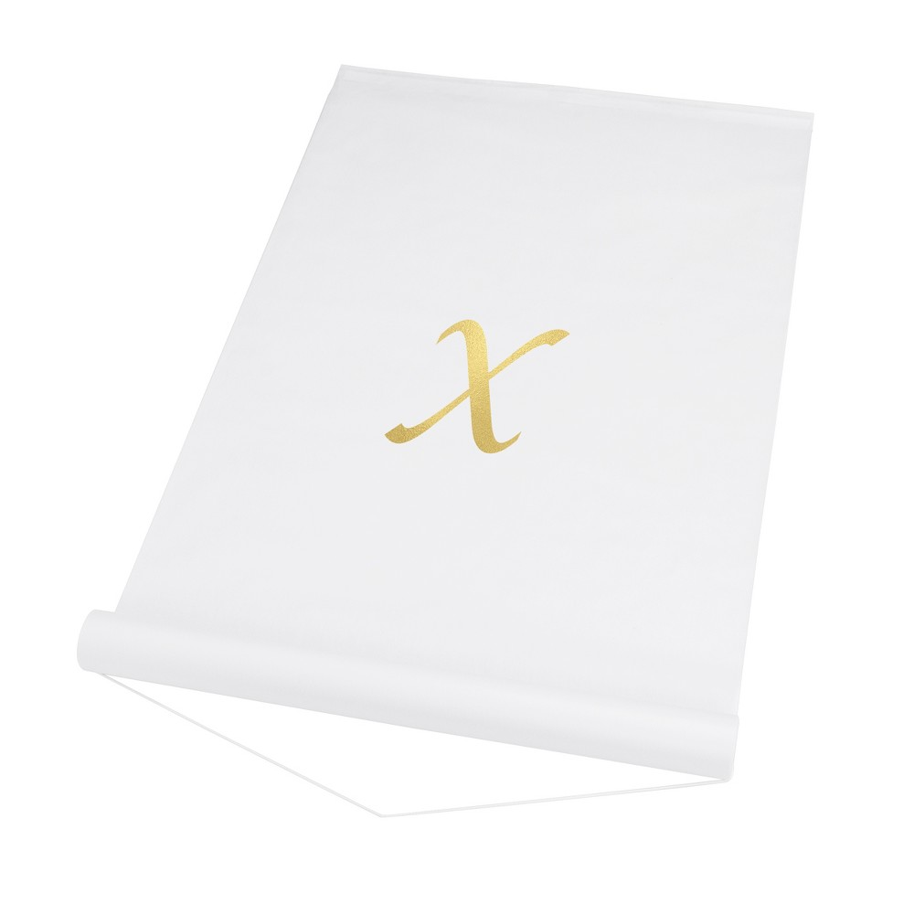 34 X 34 Personalized Wedding Aisle Runner White