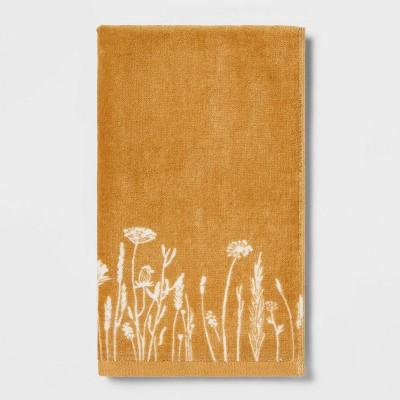 Harvest Floral Hand Towel Gold - Threshold™