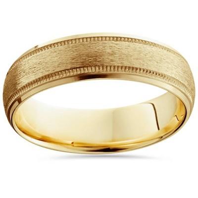 Pompeii3 Mens 14K Gold Comfort Fit 6mm Wedding Ring New Band