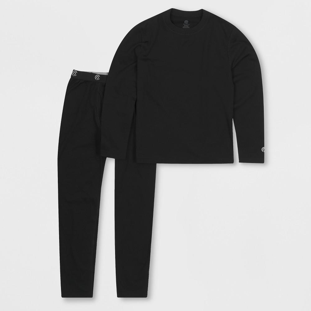 Boys' Brushed Inside Thermal Underwear Set - C9 Champion Black S thumbnail