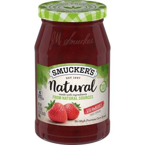 Smucker's Natural Strawberry Preserves - 17.25oz - image 1 of 4