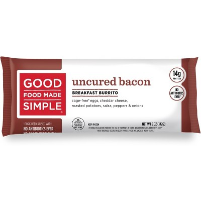 Good Food Made Simple All Natural Bacon, Egg & Cheese Breakfast Frozen Burrito - 5oz