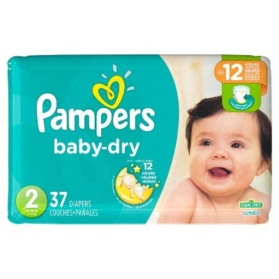 Pampers Baby Dry Diapers Jumbo Pack - Size 2 (37 ct)