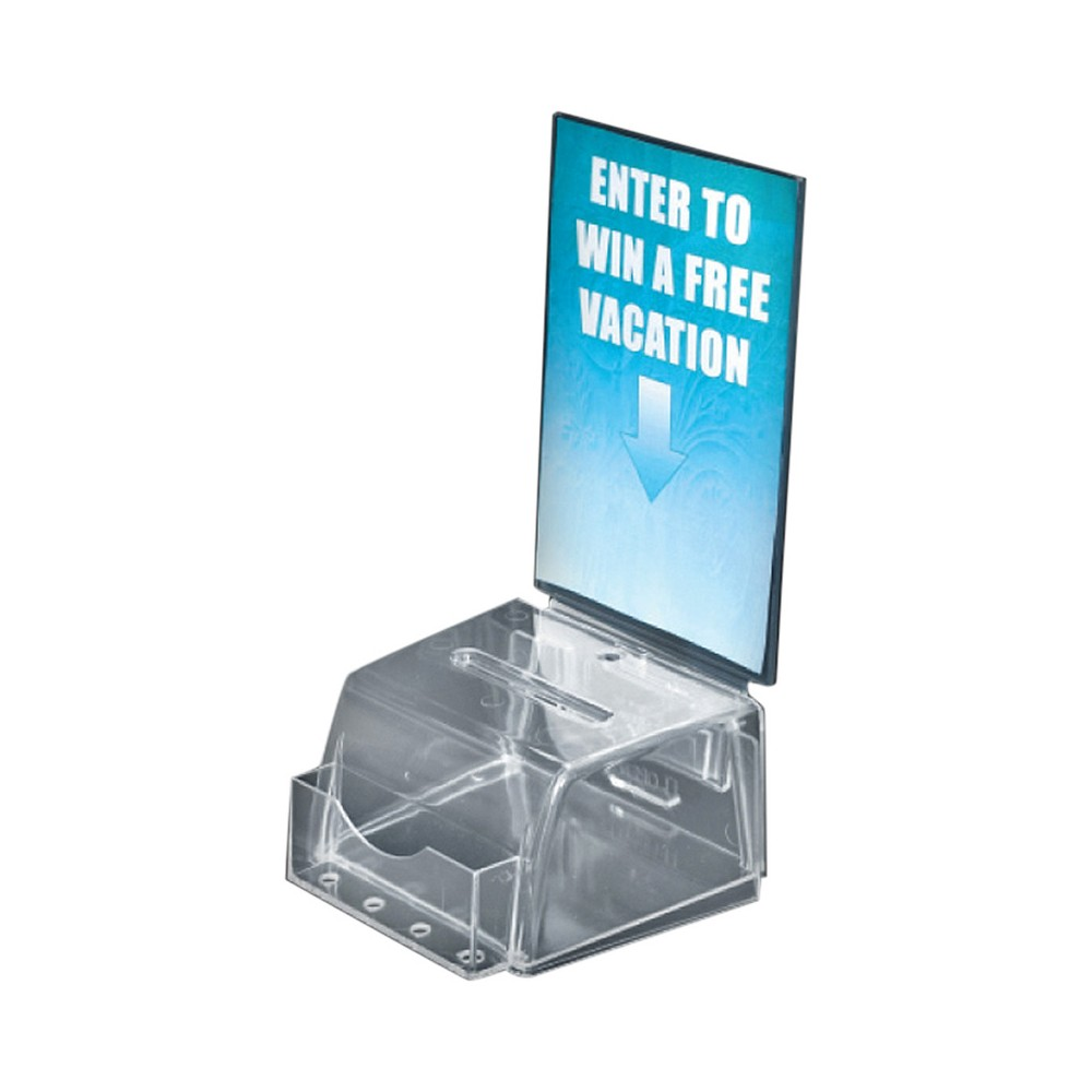 Azar Small Molded Suggestion Box Clear