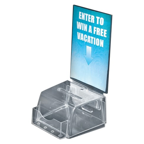 Azar® Small Molded Suggestion Box Clear - image 1 of 1