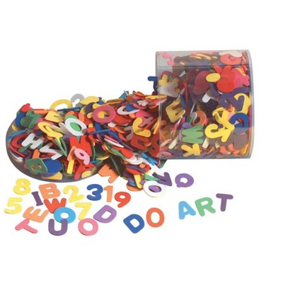 Wonderfoam Letters and Numbers Set, 1-1/2 in, Assorted Color, 1/2 lb