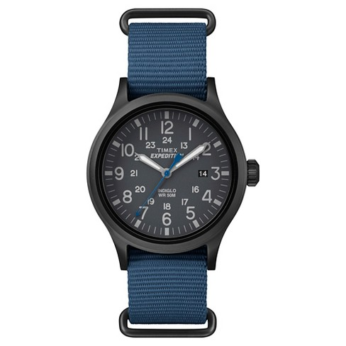 aa601c30d Men's Timex Expedition® Scout Watch With NATO Nylon Strap - Black/Blue  TW4B04800JT : Target