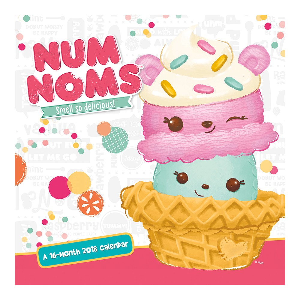 2018 Num Noms Wall Calendar - Trends International, Multi-Colored