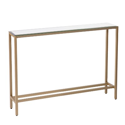 Dillard Narrow Console Table Gold - Aiden Lane