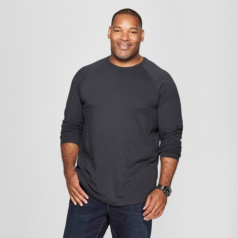 Men's Big & Tall Long Sleeve Baseball T-Shirt - Goodfellow & Co™ - image 1 of 3