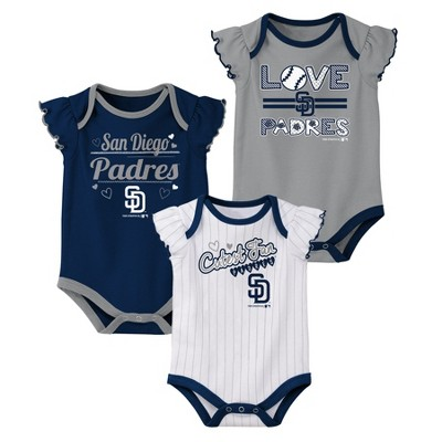 sports shoes 19833 6825f San Diego Padres Girls' Bodysuit 3pk - 0-3M