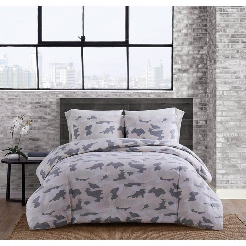 King 3pc Garment Washed Camo Comforter Set Blush - Sean John - image 1 of 4