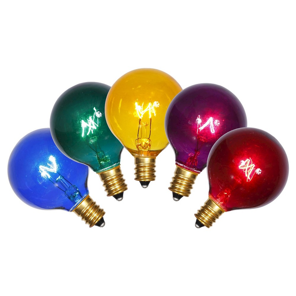 5ct Christmas Multicolored Replacement Led Light Bulbs, Multi-Colored