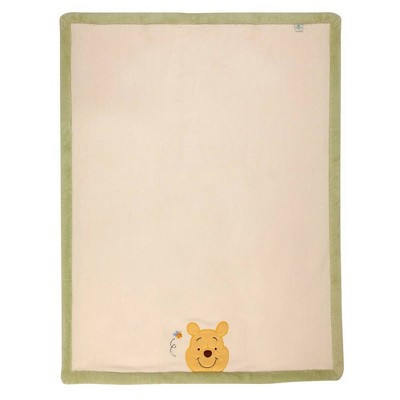 Disney Winnie The Pooh Peeking Pooh Super Soft Appliqued Baby Blanket